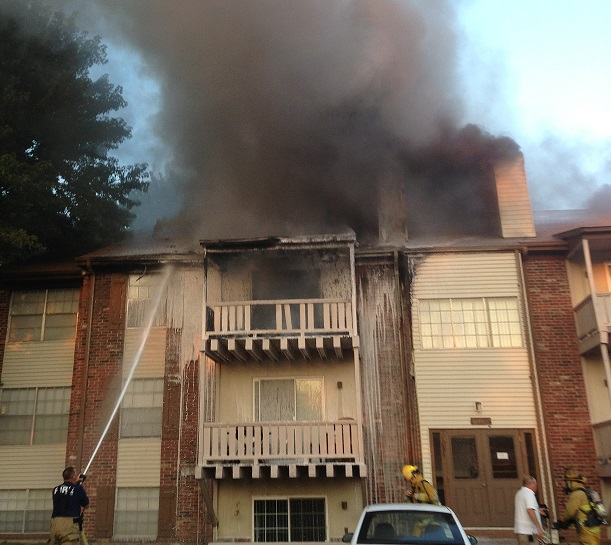 Fire Damages Apartments in Marshall