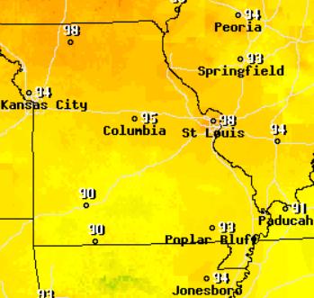 Hot, Humid Weather Stifles Region