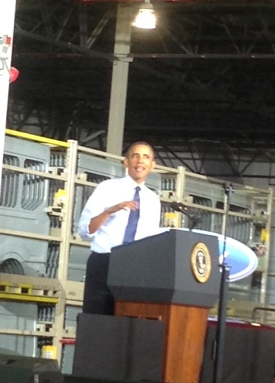 Obama Visits Missouri, Promotes Middle Class