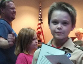 12-year-old Honored for Quick Thinking