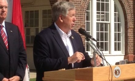 Governor Parson speaks at first Flood Recovery Advisory meeting
