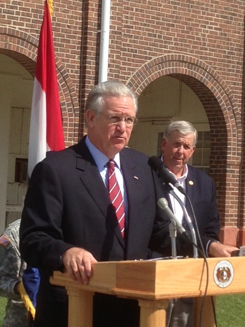 Gov. Nixon In Marshall