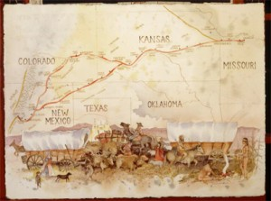 Holdred Map, courtesy of santafetrail.org.