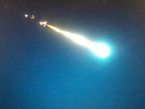 Unidentified Object Seen Falling from Sky