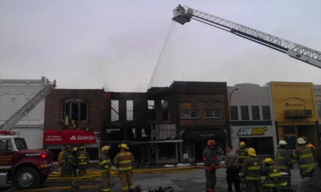 Gallatin Square Fire Claims Two Businesses