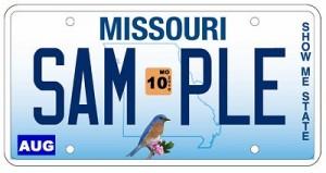 Missouri plate