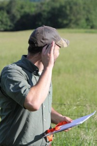 This volunteer stops and listens for bird calls during early morning breeding bird surveys conducted in June. More volunteers are needed.  For more information or to volunteer, contact Janet Haslerig at Janet.Haslerig@mdc.mo.gov or 573-522-4115, ext. 3198.