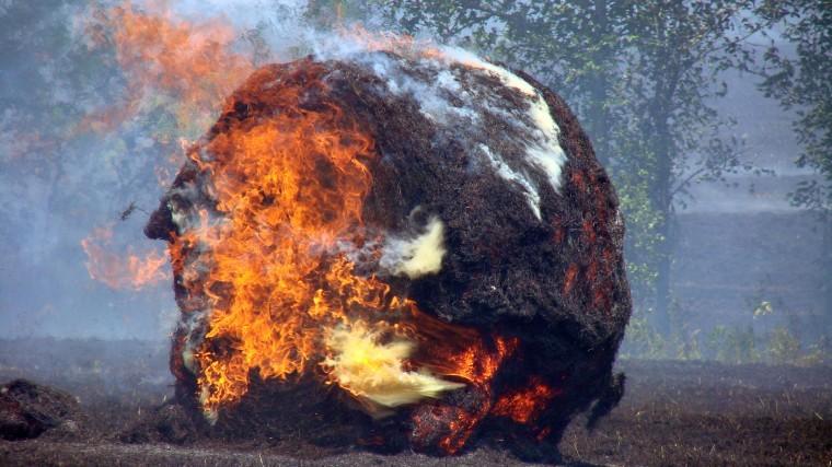 Carroll County Hay Fire