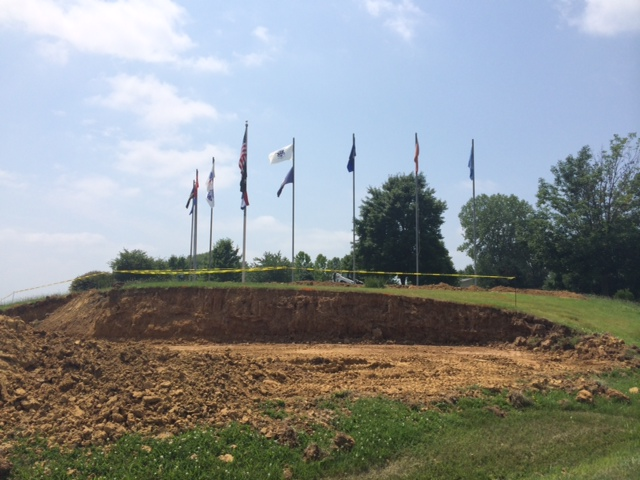 Retaining Wall Project Underway
