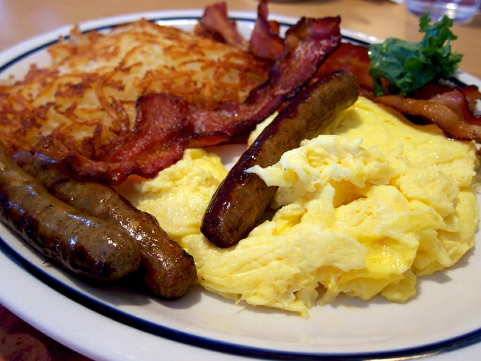 New study recommends ordering eggs, hold the bacon
