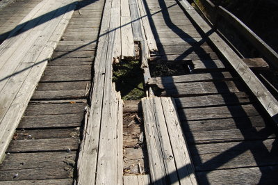 This picture shows one of the many reasons the bridge over the Salt Fork River on Co. Road 215 must be replaced.