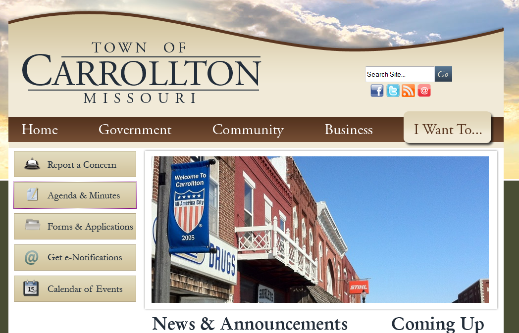 Carrollton regular session agenda has a number of discussions planned