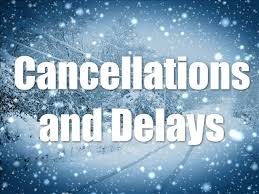 Cancellations and delays for Saturday, January 19, 2019