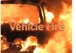 Accident causes vehicle fire, leaves three injured