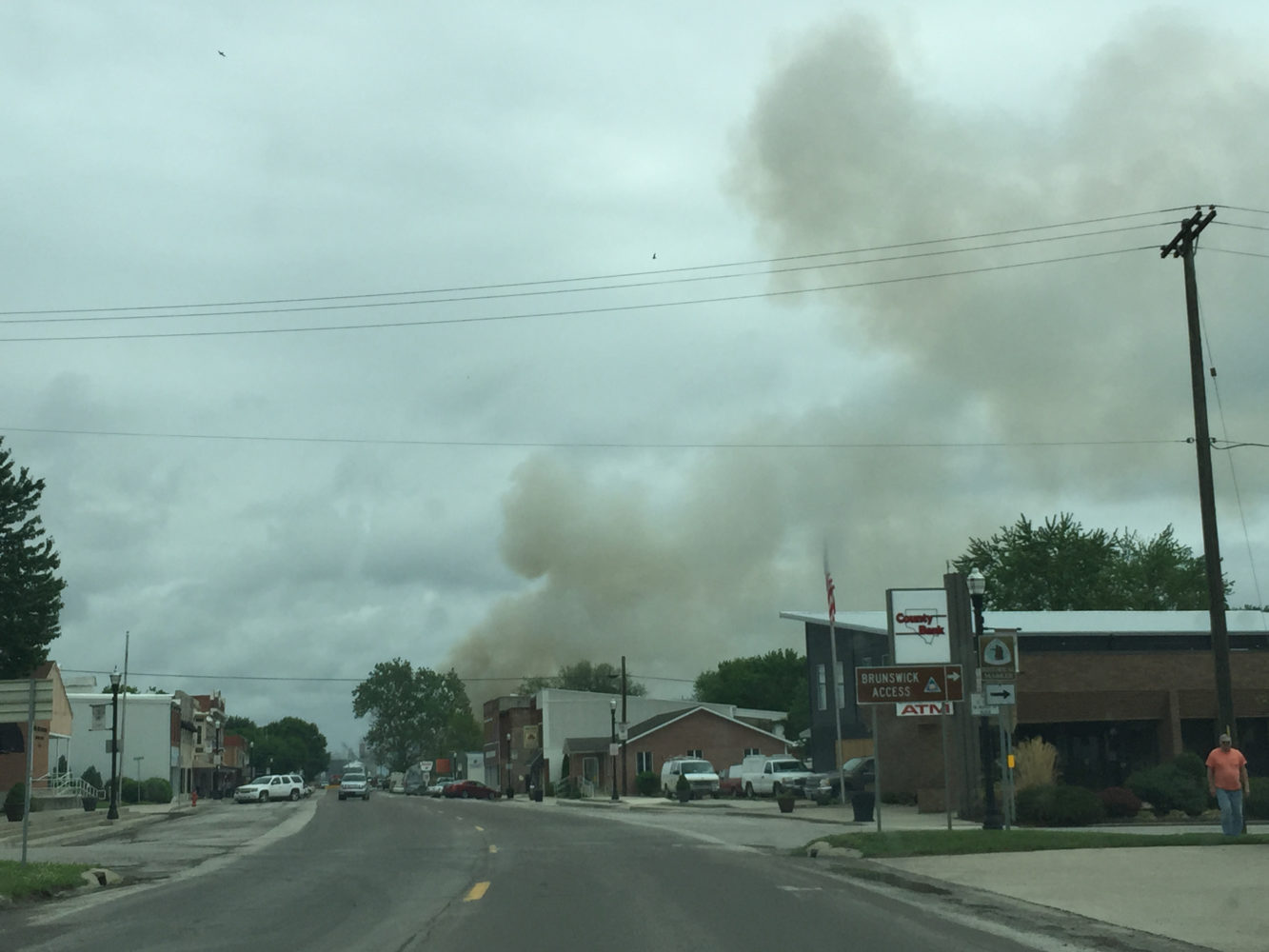 Apartment Complex Engulfed in Flames in Brunswick