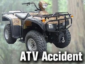 An ATV crash in Benton County hospitalized the rider