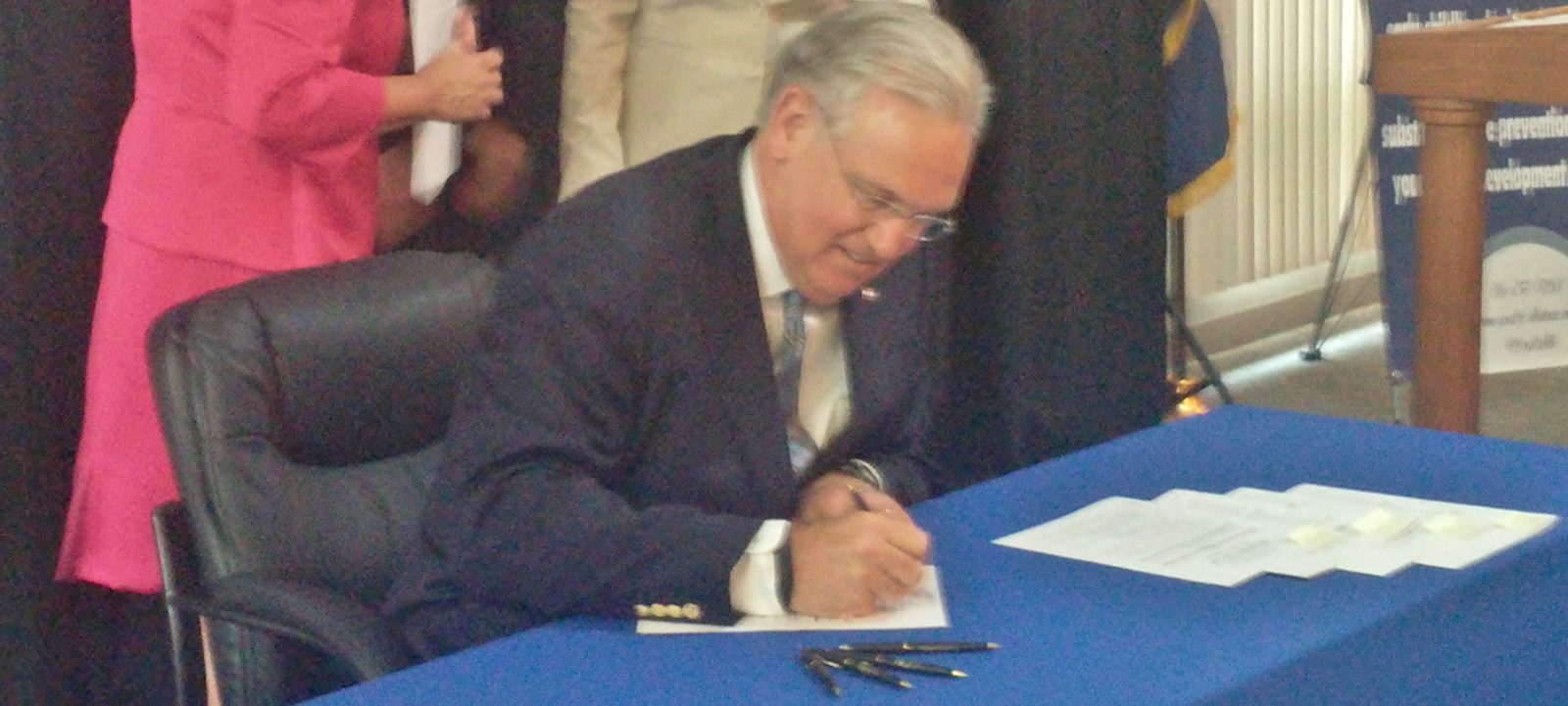 Gov. Nixon signs Youth Protection Bills during visit to St. Joseph