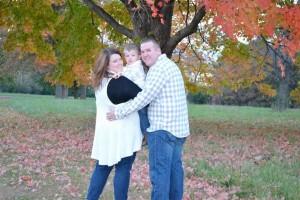 Mike & Lauren Hurt with their son, Hayden.