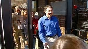 Picture- KMBC   Woodworth on the day of his bond release.