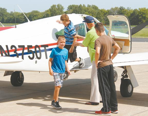 "Aircraft association gives local youths ""first-flight"" experience"