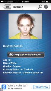 Rachel Hunter, 21, of Kansas City, Mo.