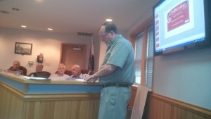 Chillicothe City Administrator Ike Holland presented the tentative designs of the Way Finding Signs before council and the public Monday, September 14, 2015.