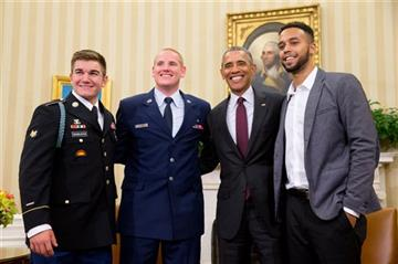 Oval Office welcome for Americans who thwarted train attack