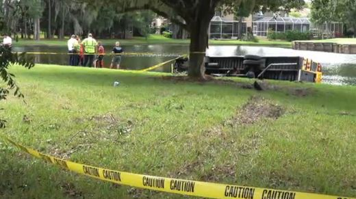 5th grader hailed a hero after school bus crashes into pond