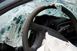 Vehicle malfunction causes crash