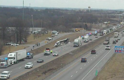 UPDATE: Breaking News: Tour bus crash affecting WB I-70, injuries unknown