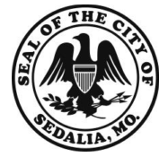 Electric car charging stations available in Sedalia's historic district