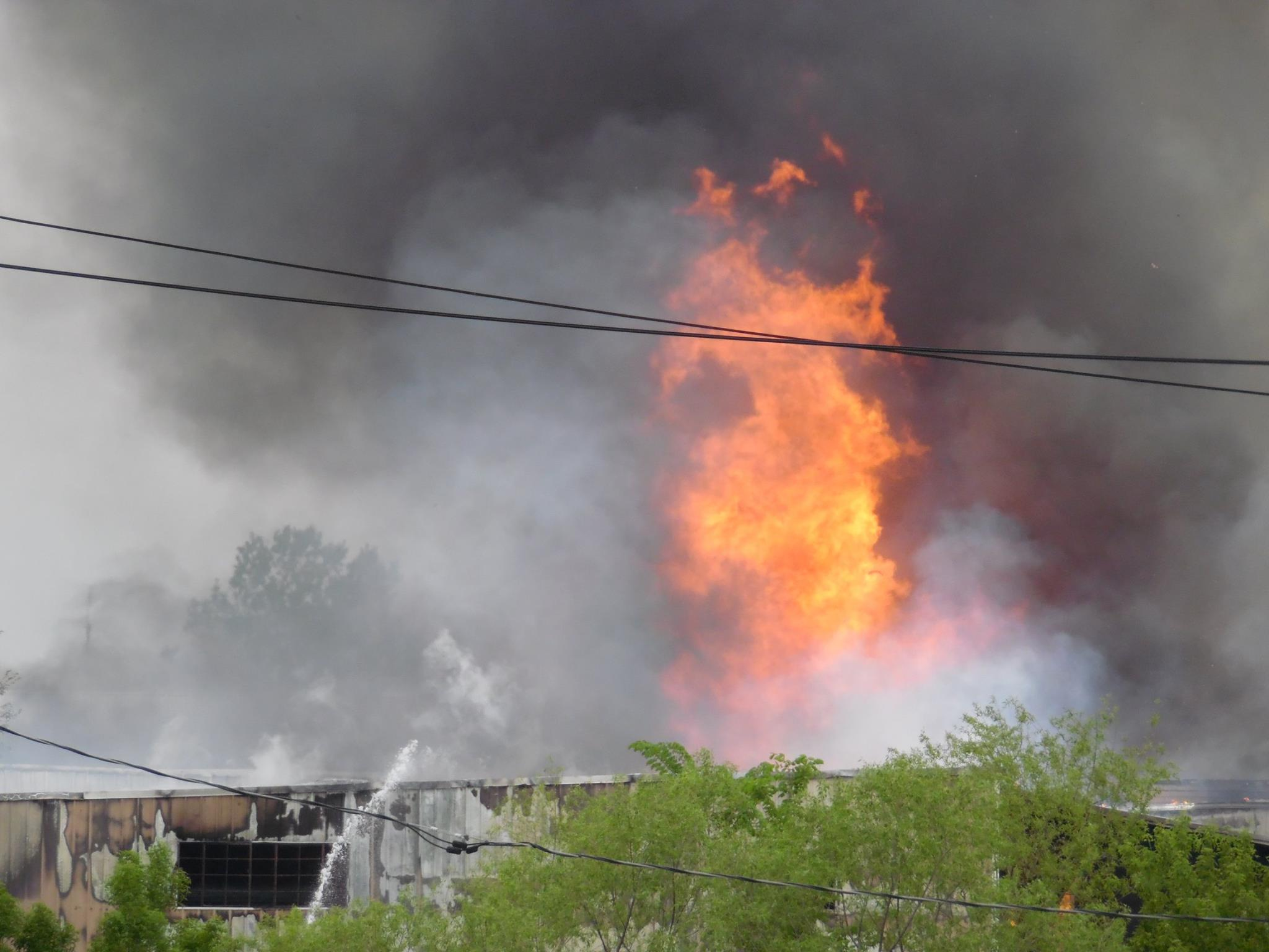 Fire destroys GHS Paper Tube in Albany