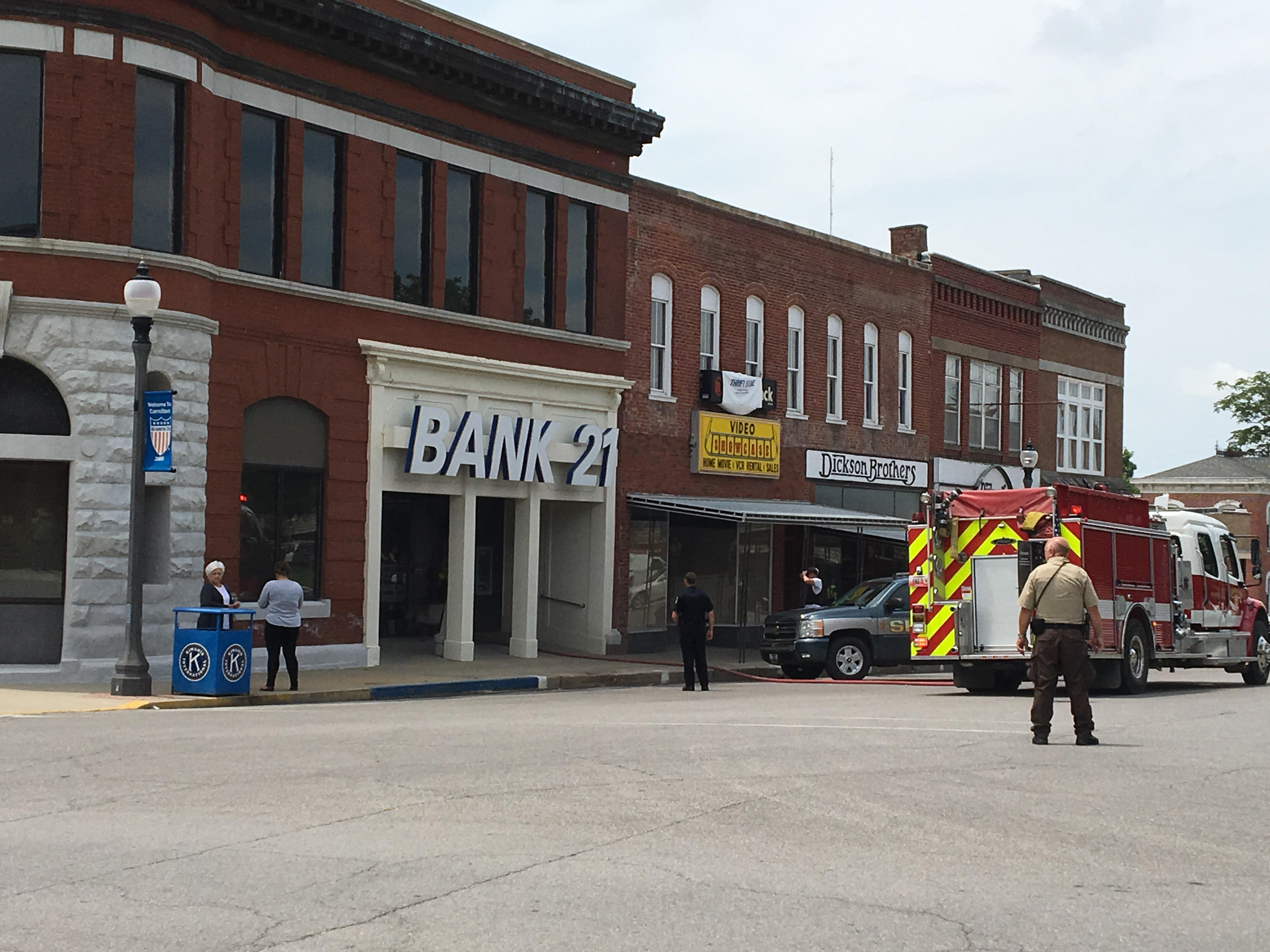 Temporary bank opening while crews clean Bank 21 after electrical fire