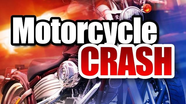 Two injured when deer and motorcycle collide