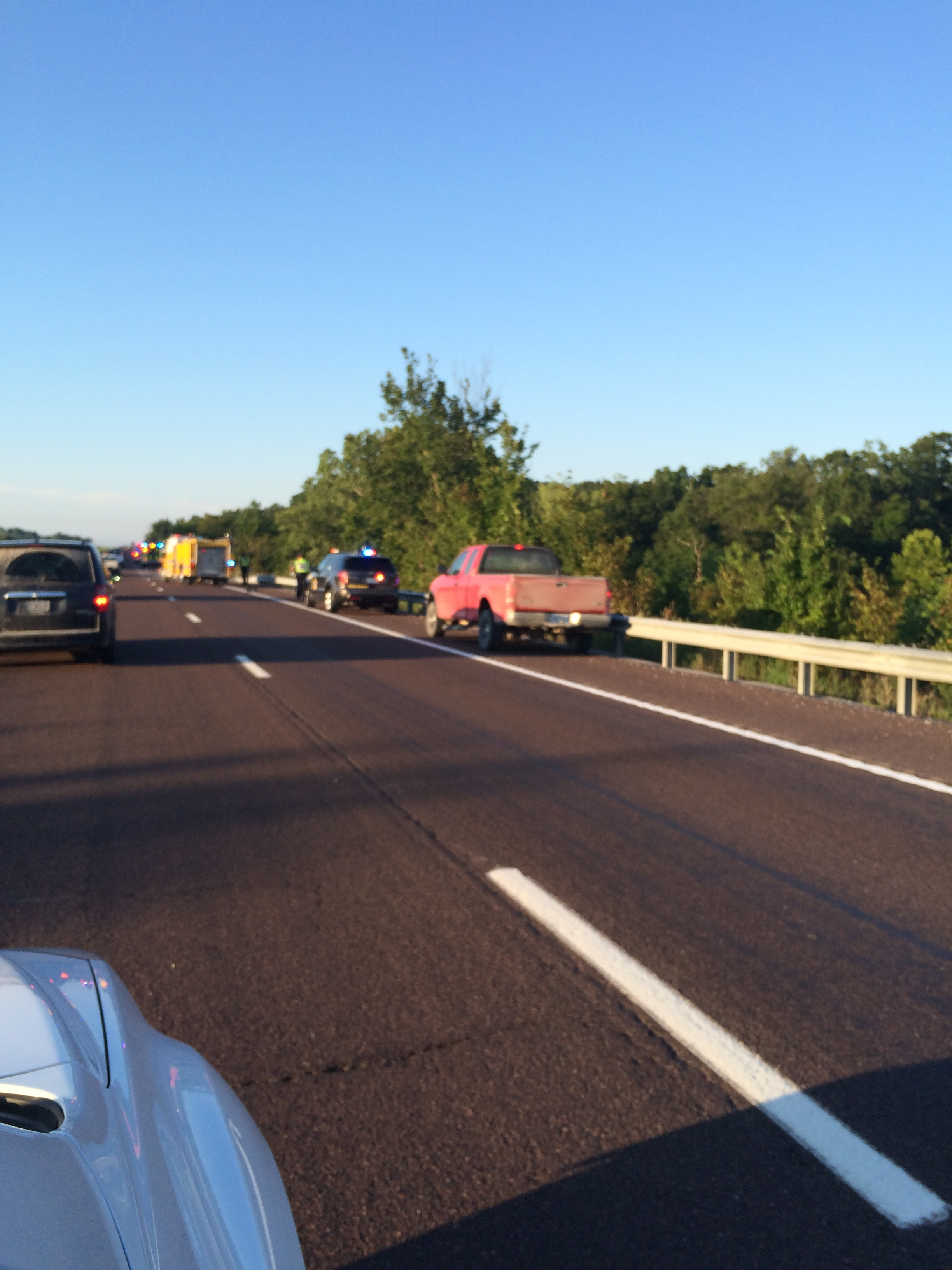 Highway Patrol working two accidents at different points on Hwy. 63