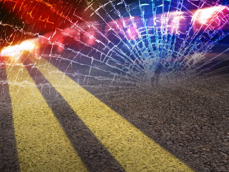 Driver injured in motorcycle crash