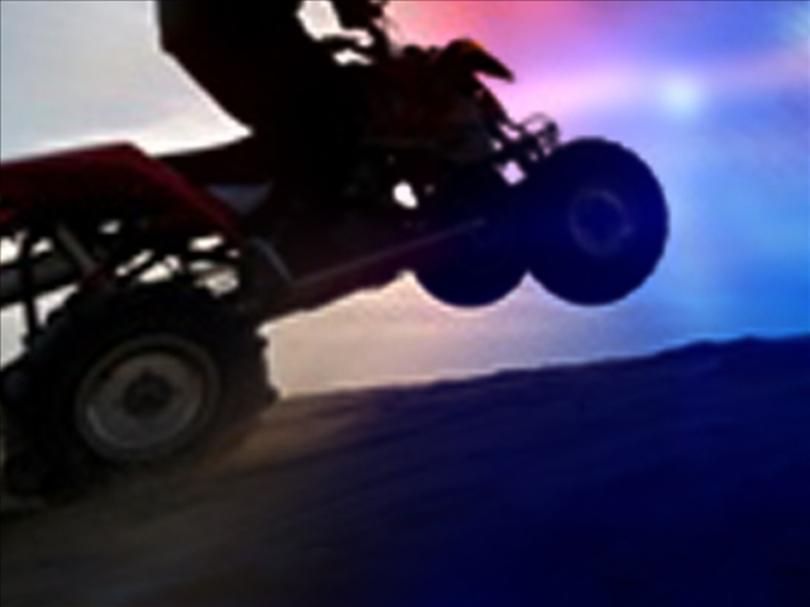 ATV crash landing injures driver
