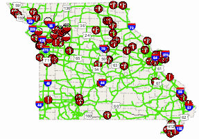 Road closings in Northwest Missouri