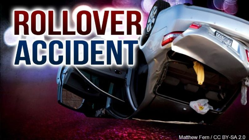 The driver was injured in a Clay County rollover crash