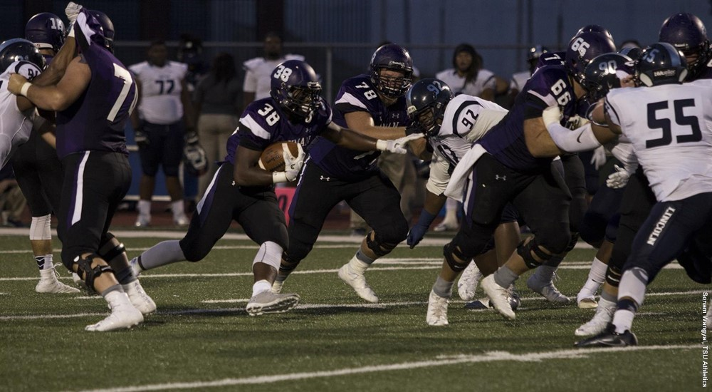 Truman football with a shutout victory this weekend over Lincoln College