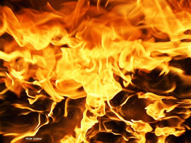 Arson possible cause in burning of Harrisonville home