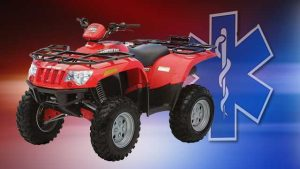 Injuries and citations received by driver of ATV