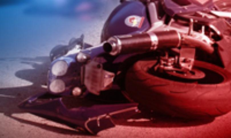 A rider was hospitalized after a Cass County motorcycle crash