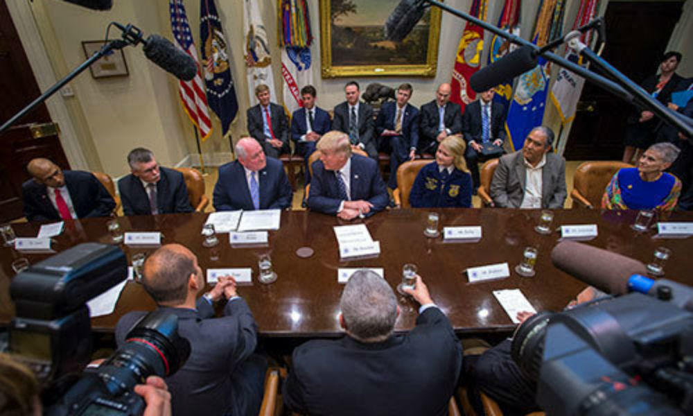 President Trump sits down with farmers and signs executive order