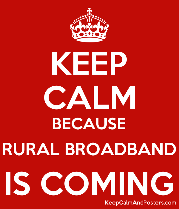 Keep calm, Perdue is working to bring broadband to rural areas
