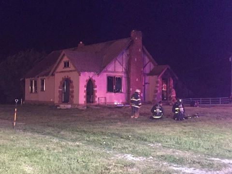 2-story residence near Lone Jack complete loss as a result of a late-night blaze