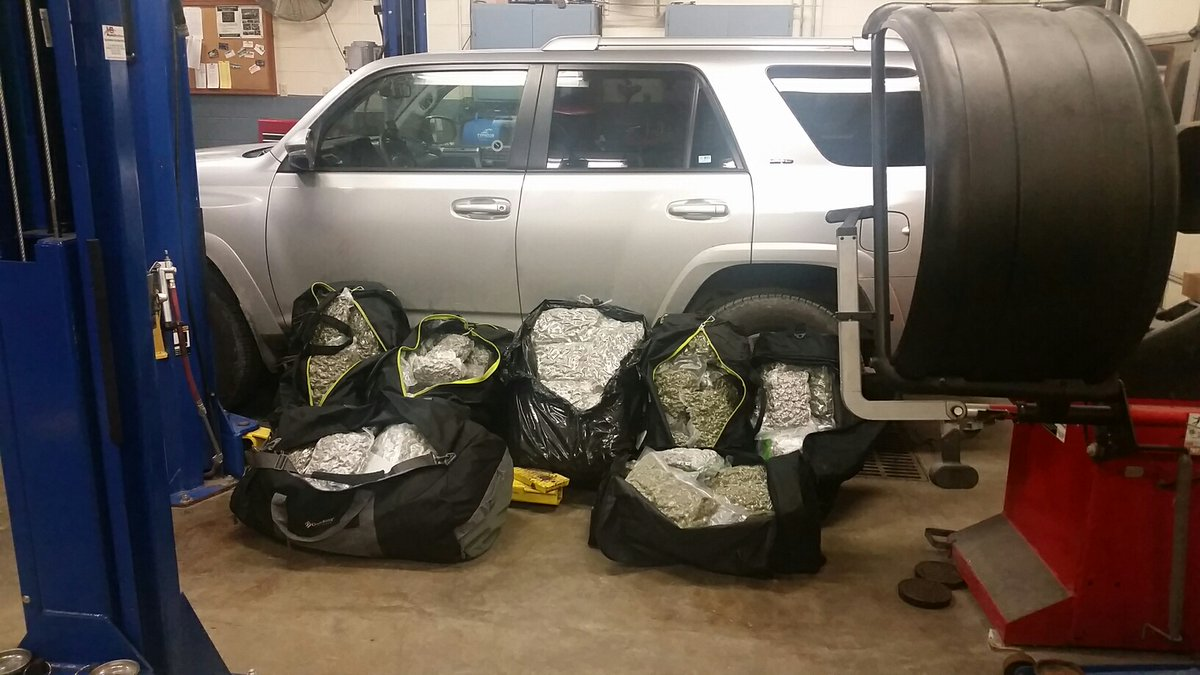 Highway Patrol tweets photo of 165 pounds of marijuana seized