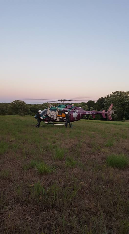 Helicopter called for man who fell out of tree stand.