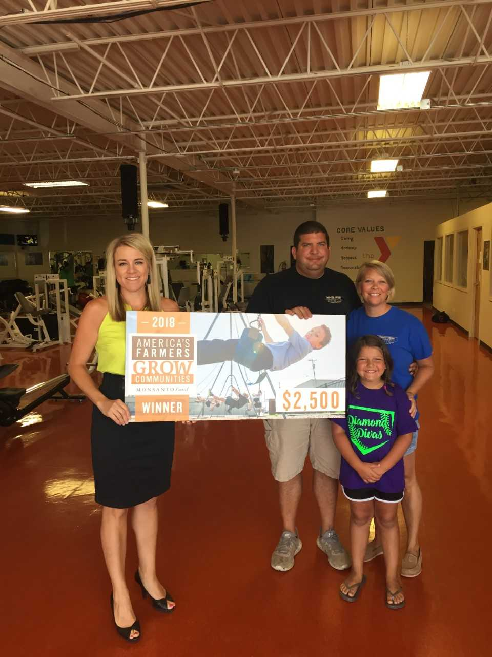 Carroll County Area YMCA awarded $2,500 donation from local Carrollton farmers