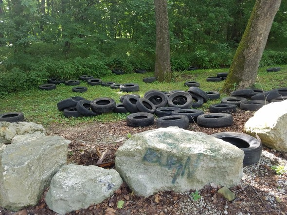 MDC requesting information on a large illegal tire dump in Cole County
